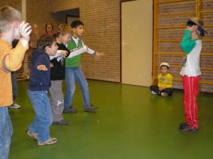 workshop met leerlingen