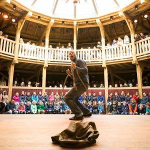 Joris Lehr Koning Lear in Globe theater Diever foto K&C Drenthe